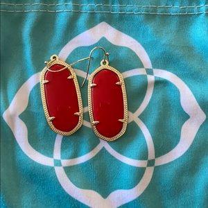 Kendra Scott Red 'Elle' Earrings